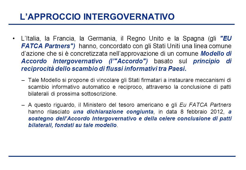 BEI - 17 aprile 2013 L'APPROCCIO INTERGOVERNATIVO L'Italia, la Francia, la Germania, il Regno Unito e la Spagna (gli