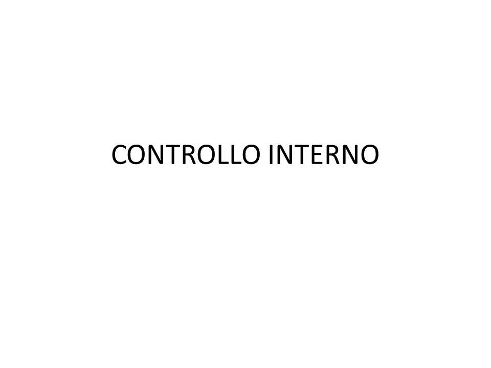CONTROLLO INTERNO