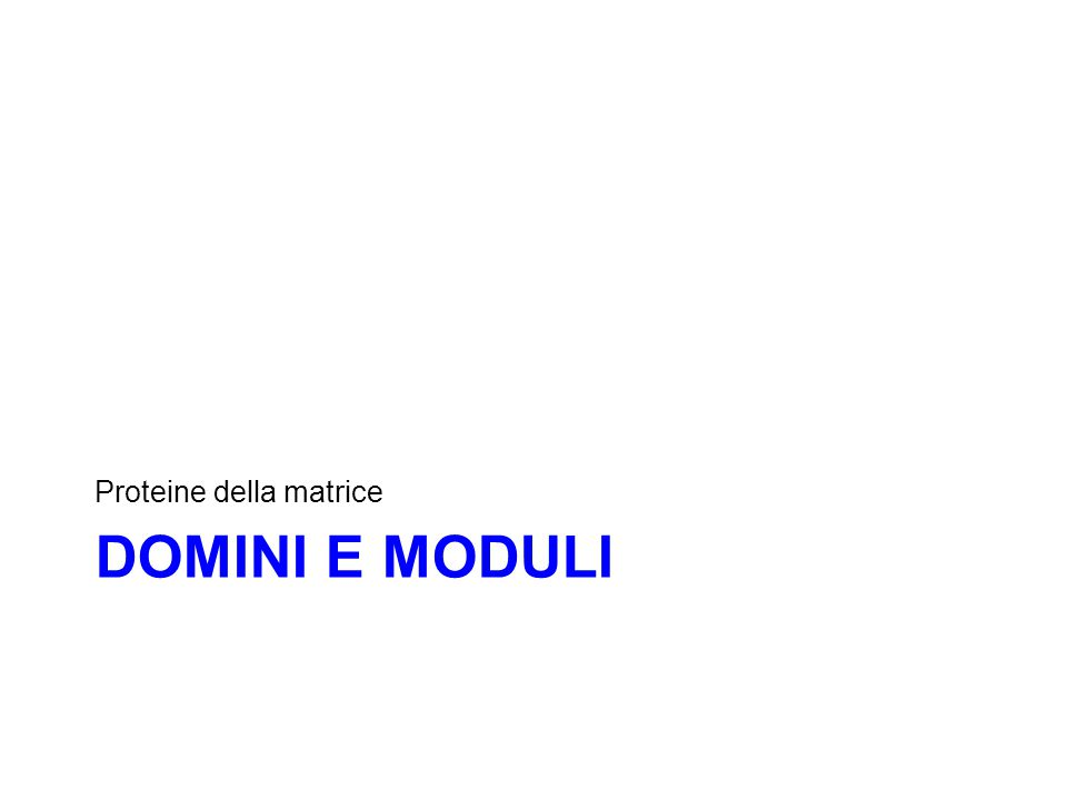 DOMINI E MODULI Proteine della matrice