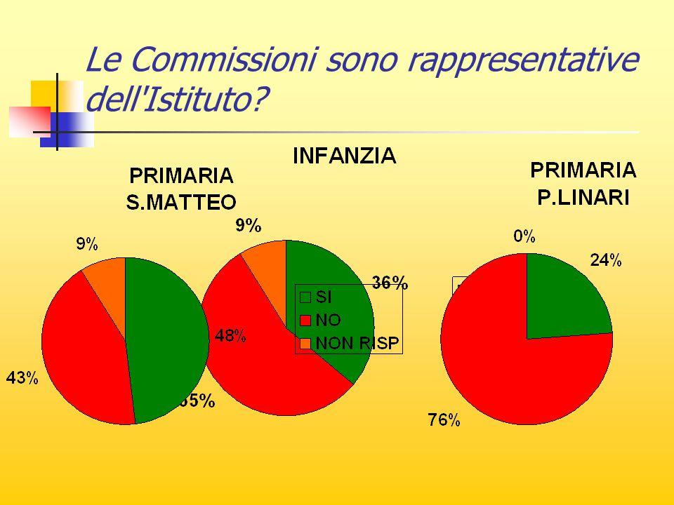 Le Commissioni sono rappresentative dell Istituto