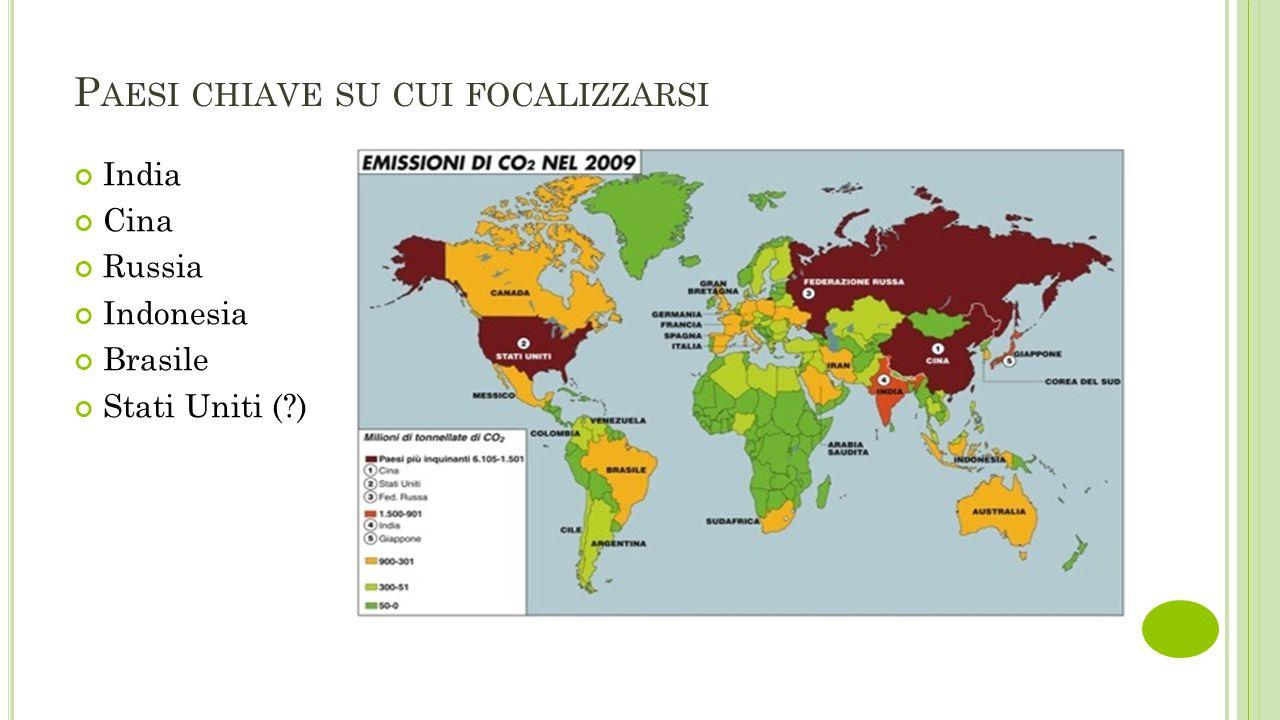 P AESI CHIAVE SU CUI FOCALIZZARSI India Cina Russia Indonesia Brasile Stati Uniti ( )