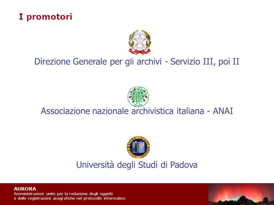 AURORA Amministrazioni unite per la redazione degli oggetti e delle registrazioni anagrafiche nel protocollo informatico Art.