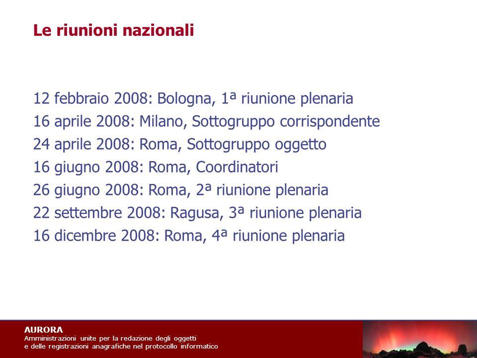 AURORA Amministrazioni unite per la redazione degli oggetti e delle registrazioni anagrafiche nel protocollo informatico DPCM 31 ottobre 2000 Eliminazione dei protocollo interni Art.