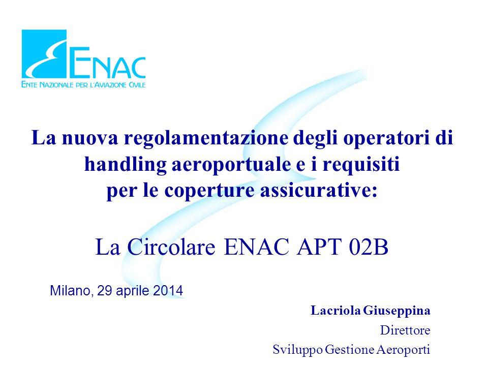 La nuova regolamentazione degli operatori di handling aeroportuale e i requisiti per le coperture assicurative: La Circolare ENAC APT 02B Milano, 29 a