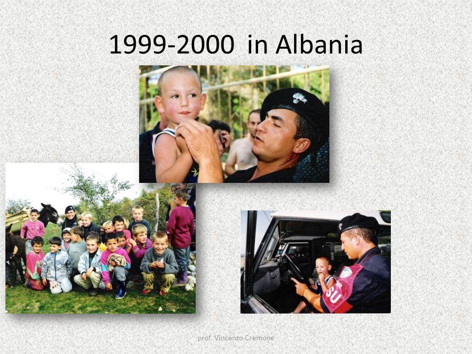 1999-2000 in Albania prof. Vincenzo Cremone