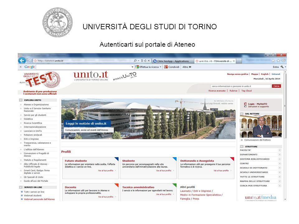 Inserisci utente e password e clicca su login UNIVERSITÀ DEGLI STUDI DI TORINO