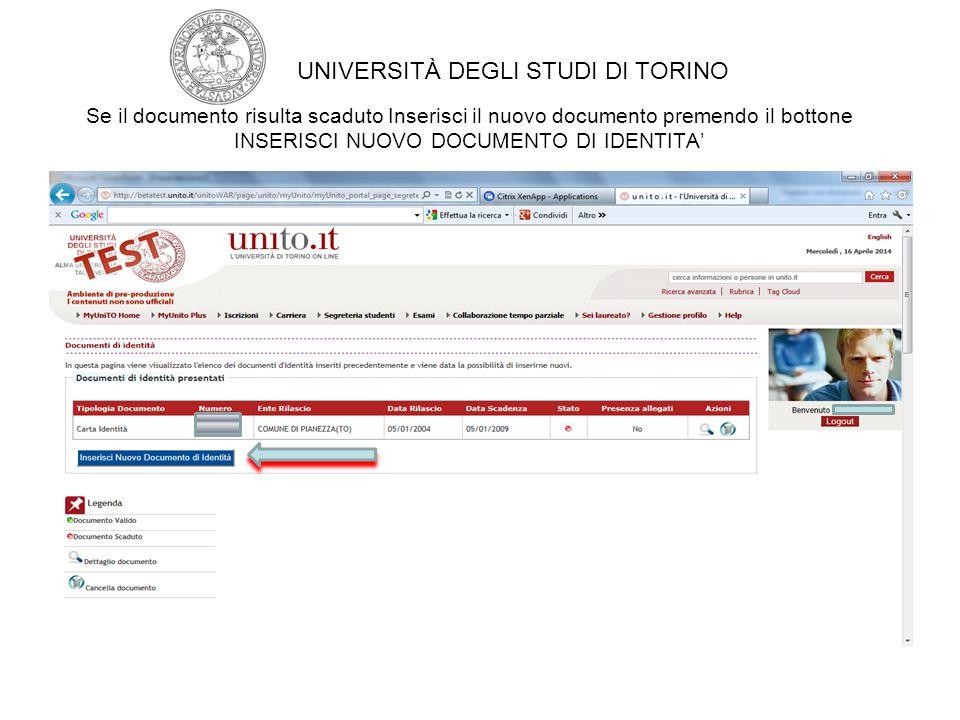 E' possibile caricare un'altra attività didattica oltre a quella già indicata UNIVERSITÀ DEGLI STUDI DI TORINO