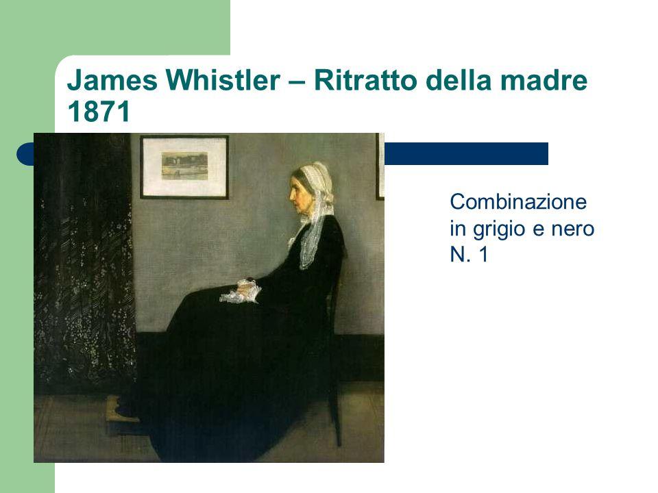 James Whistler – Ritratto della madre 1871 Combinazione in grigio e nero N. 1