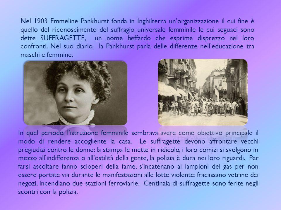 All'inizio del Novecento la donna inizia a cambiare e incominciano a nascere organizzazioni e associazioni di donne che si univano per combattere assi