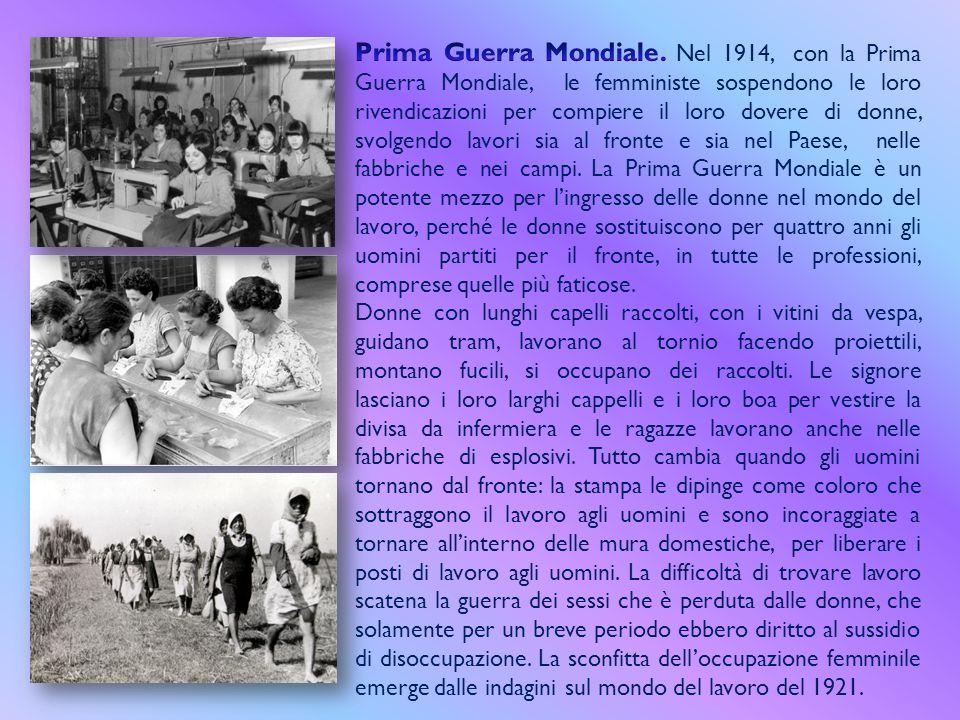 Nel 1903 Emmeline Pankhurst fonda in Inghilterra un'organizzazione il cui fine è quello del riconoscimento del suffragio universale femminile le cui s