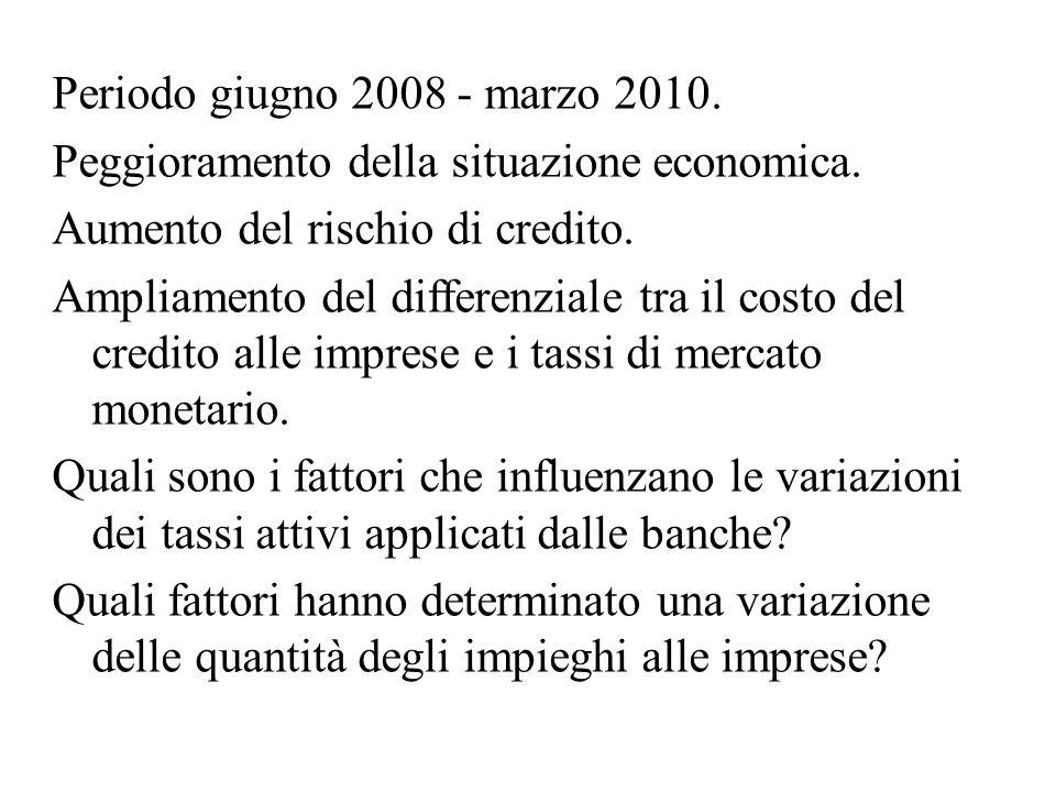 Periodo giugno 2008 - marzo 2010. Peggioramento della situazione economica.