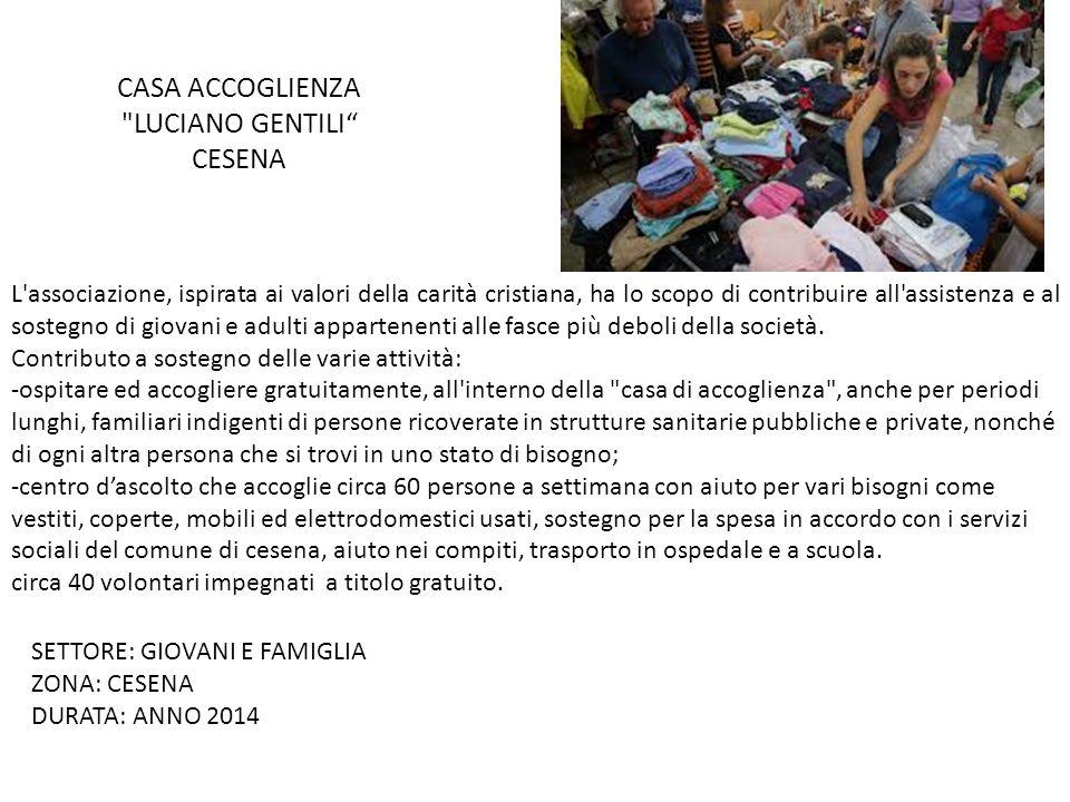 L'associazione, ispirata ai valori della carità cristiana, ha lo scopo di contribuire all'assistenza e al sostegno di giovani e adulti appartenenti al