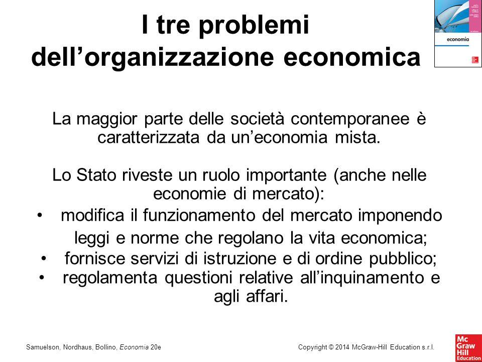 Samuelson, Nordhaus, Bollino, Economia 20eCopyright © 2014 McGraw-Hill Education s.r.l. La maggior parte delle società contemporanee è caratterizzata
