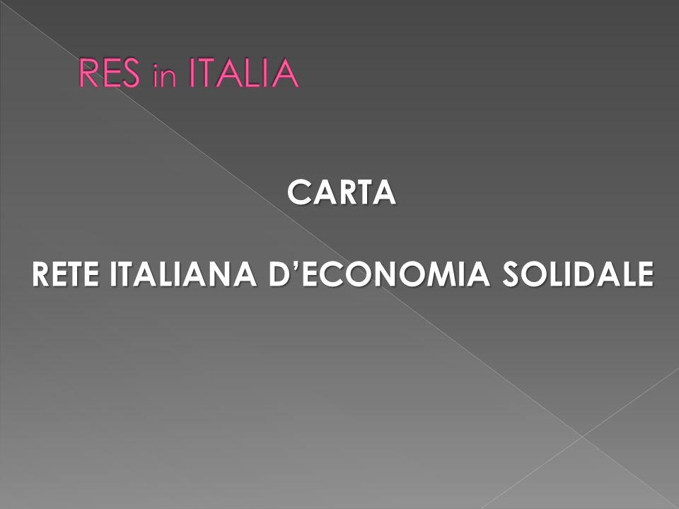 CARTA RETE ITALIANA D'ECONOMIA SOLIDALE