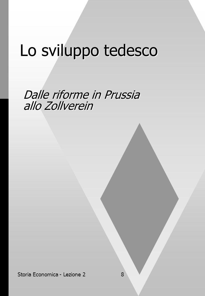 Storia Economica - Lezione 28 Lo sviluppo tedesco Dalle riforme in Prussia allo Zollverein