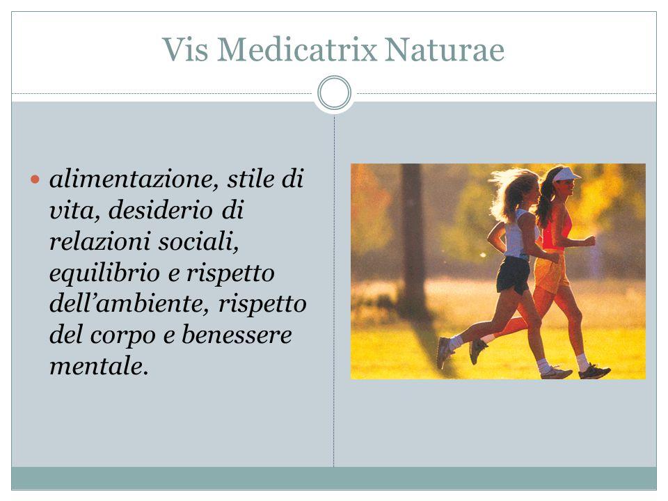 Vis Medicatrix Naturae alimentazione, stile di vita, desiderio di relazioni sociali, equilibrio e rispetto dell'ambiente, rispetto del corpo e benesse
