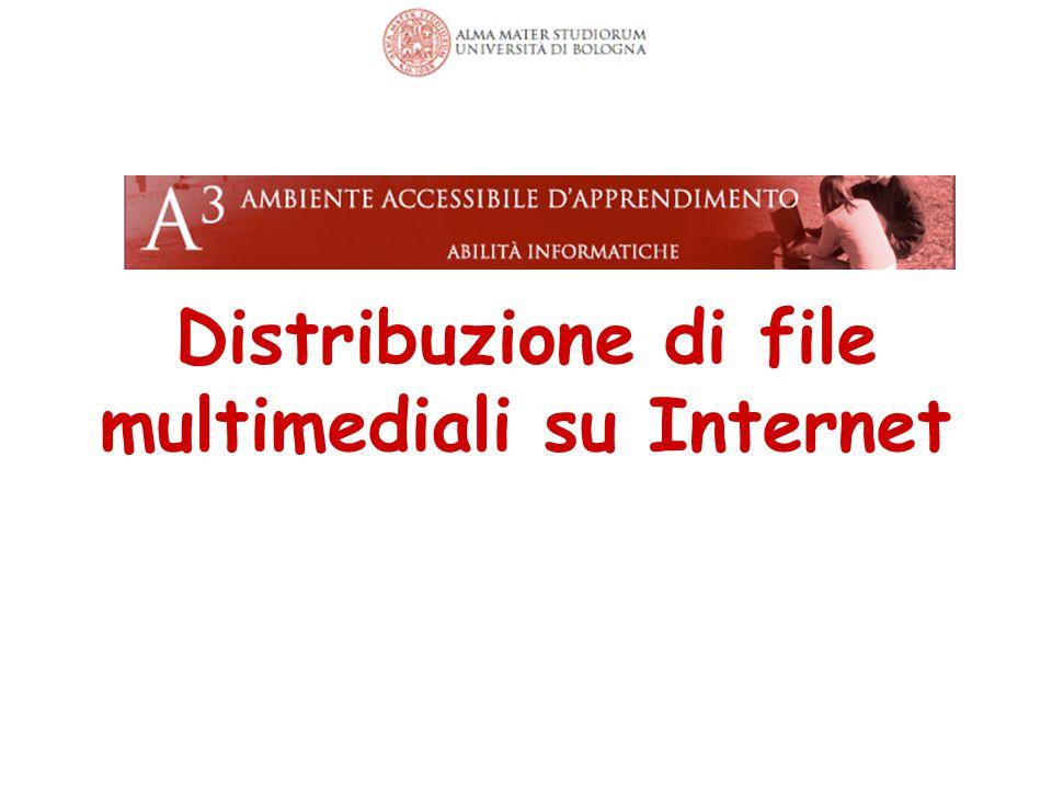 Distribuzione di file multimediali su Internet 67