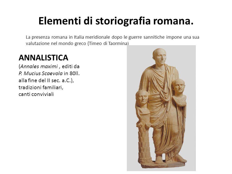P RIMA ANNALISTICA (in greco): Q.