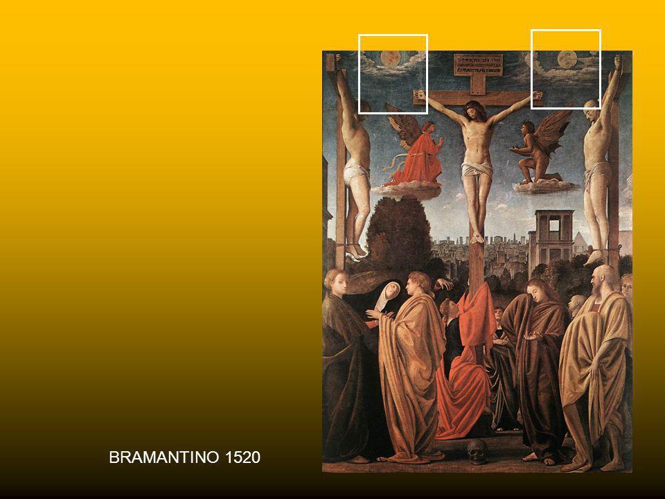 RAFFAELLO 1503 La raffigurazione del sole e della luna, presente in diverse crocifissioni. assume molteplici significati: a) è segno della duplice nat