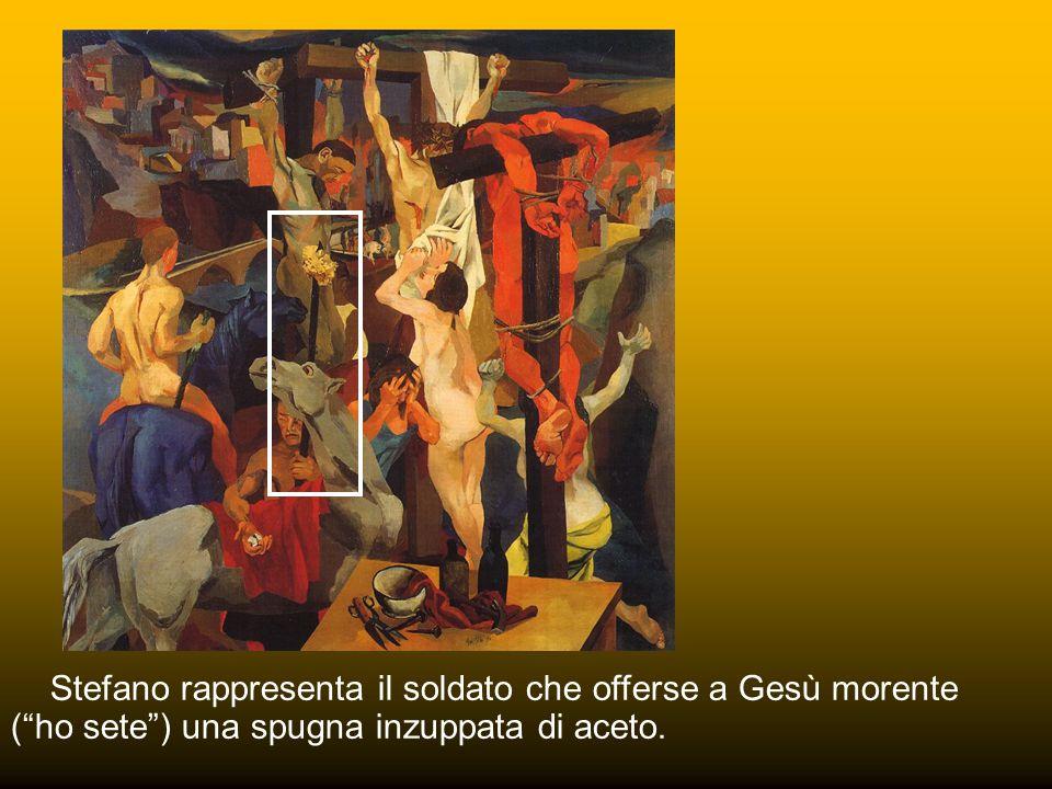 Maerten van Heemskerck 1543 Secondo la tradizione Longino fu colui che ferì con la lancia il costato di Cristo. Secondo la leggenda il sangue sgorgato