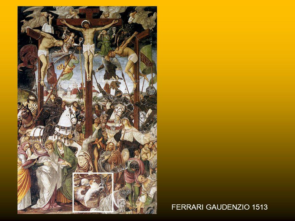 """CRAIGIE AITCHISON 1997-1998 Il cagnolino accanto alla croce richiama alla memoria il salmo 22 dove si legge: """"I cani mi hanno circondato, un gruppo di"""