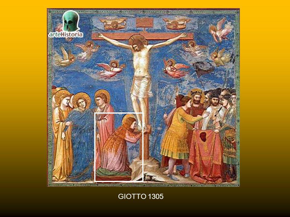 BERNARDO DADDI 1338 Maria Maddalena è sovente raffigurata abbracciata alla croce, coi capelli disciolti, talora con in mano un vaso di unguento (fu co