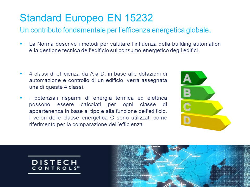 Standard Europeo EN 15232 Un contributo fondamentale per l'efficenza energetica globale.