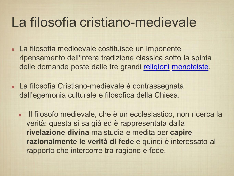 La filosofia cristiana fra i secoli I e XIV d.C.
