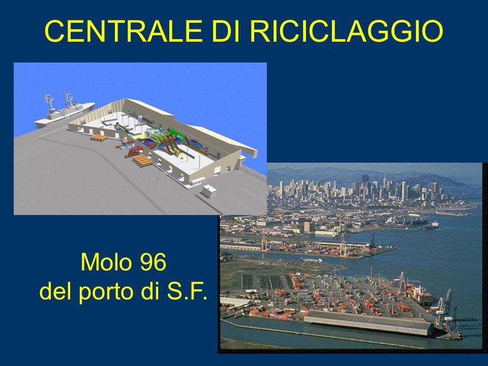 Molo 96 del porto di S.F. CENTRALE DI RICICLAGGIO