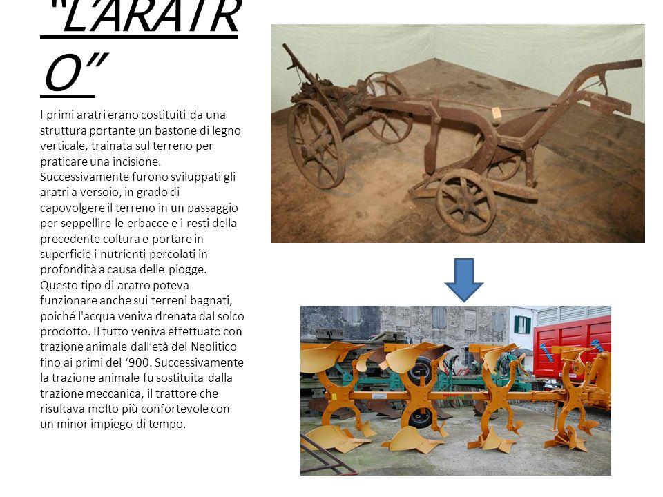"""""""L'ARATR O"""" I primi aratri erano costituiti da una struttura portante un bastone di legno verticale, trainata sul terreno per praticare una incisione."""