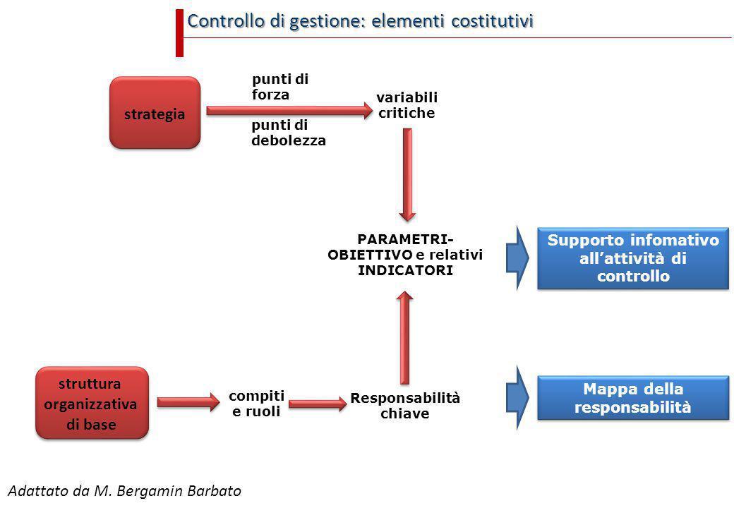 Controllo di gestione: elementi costitutivi strategia punti di forza punti di debolezza variabili critiche struttura organizzativa di base compiti e r