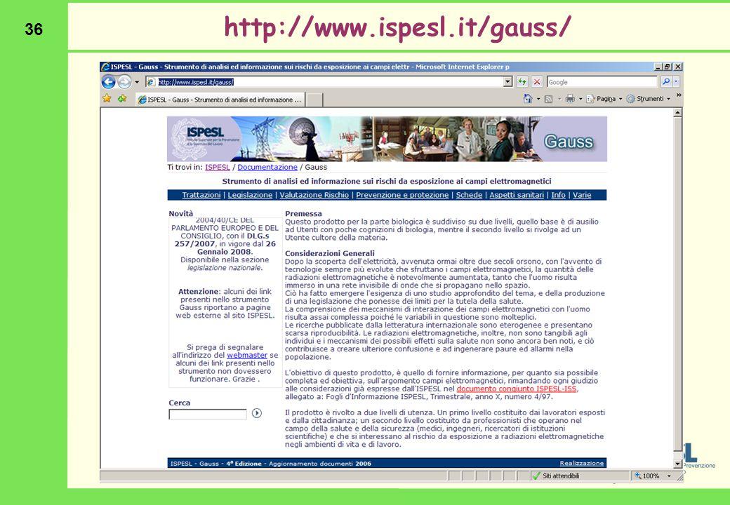 36 http://www.ispesl.it/gauss/