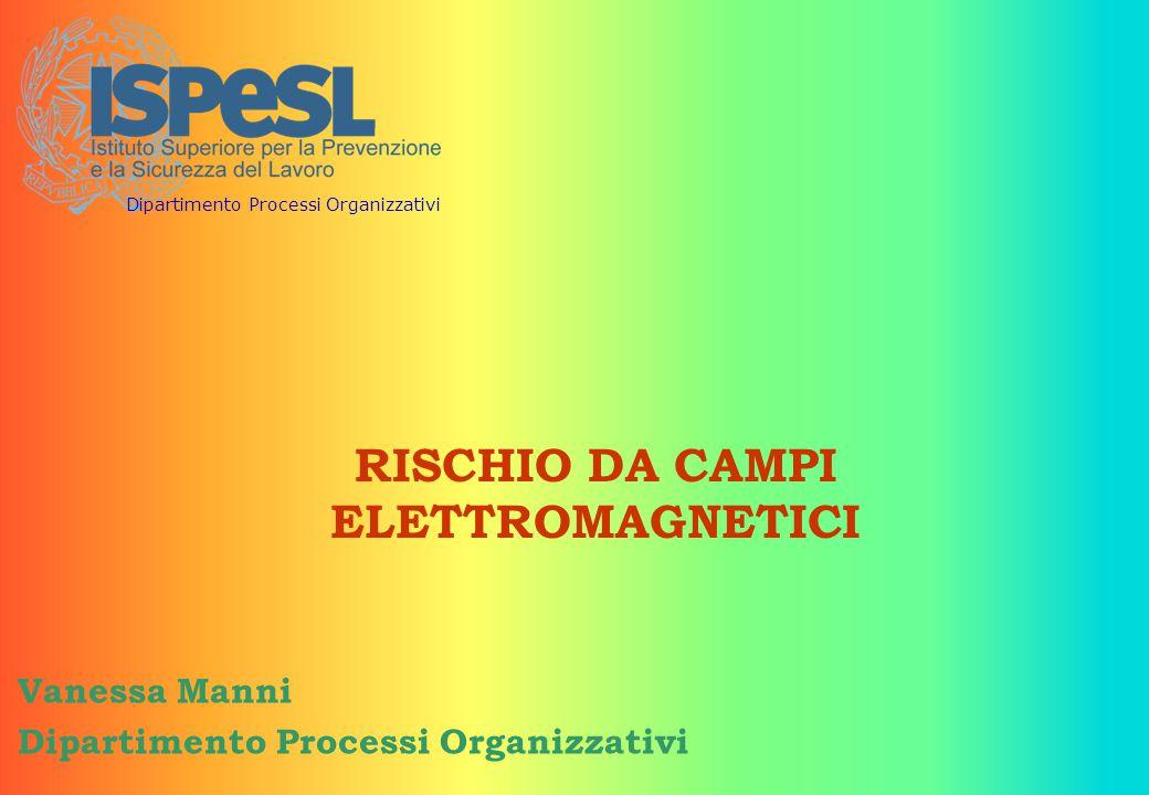RISCHIO DA CAMPI ELETTROMAGNETICI Vanessa Manni Dipartimento Processi Organizzativi
