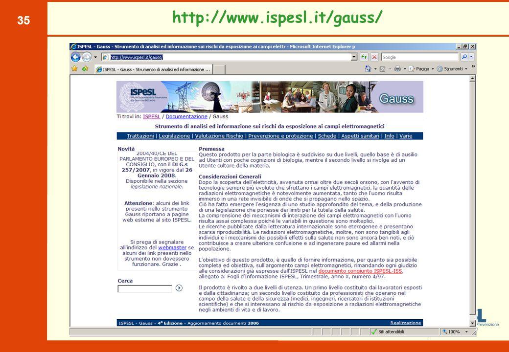 35 http://www.ispesl.it/gauss/