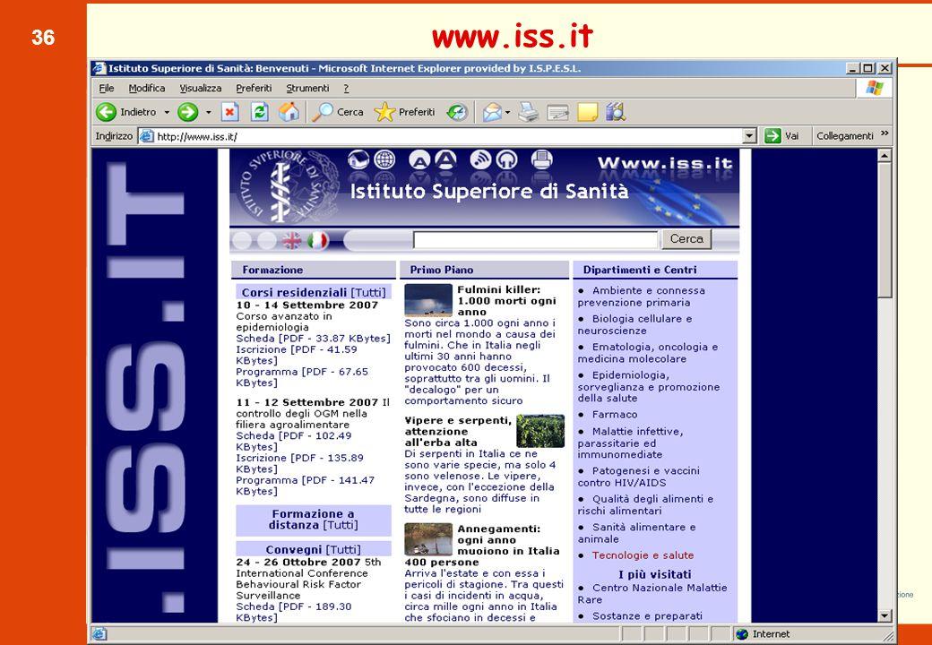 36 www.iss.it