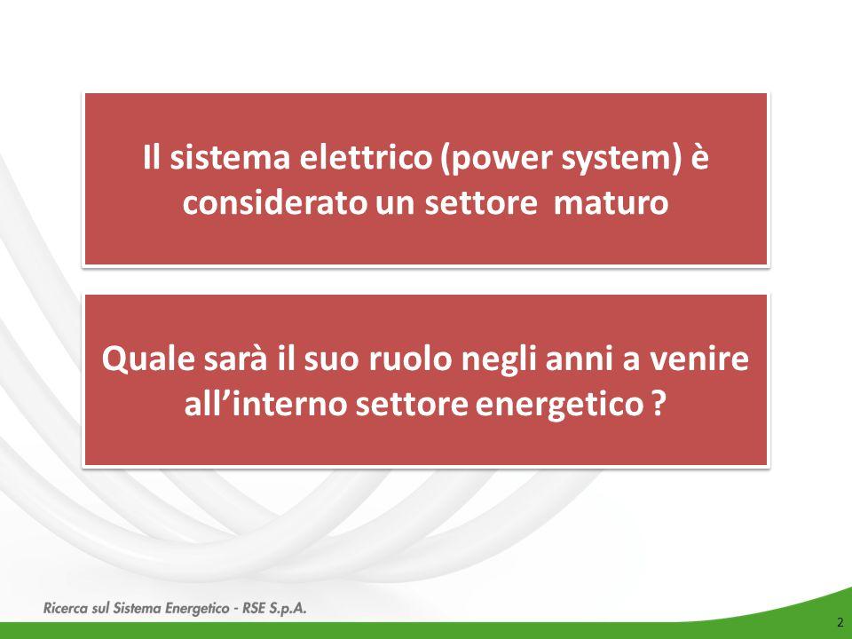 2 Il sistema elettrico (power system) è considerato un settore maturo Quale sarà il suo ruolo negli anni a venire all'interno settore energetico ?
