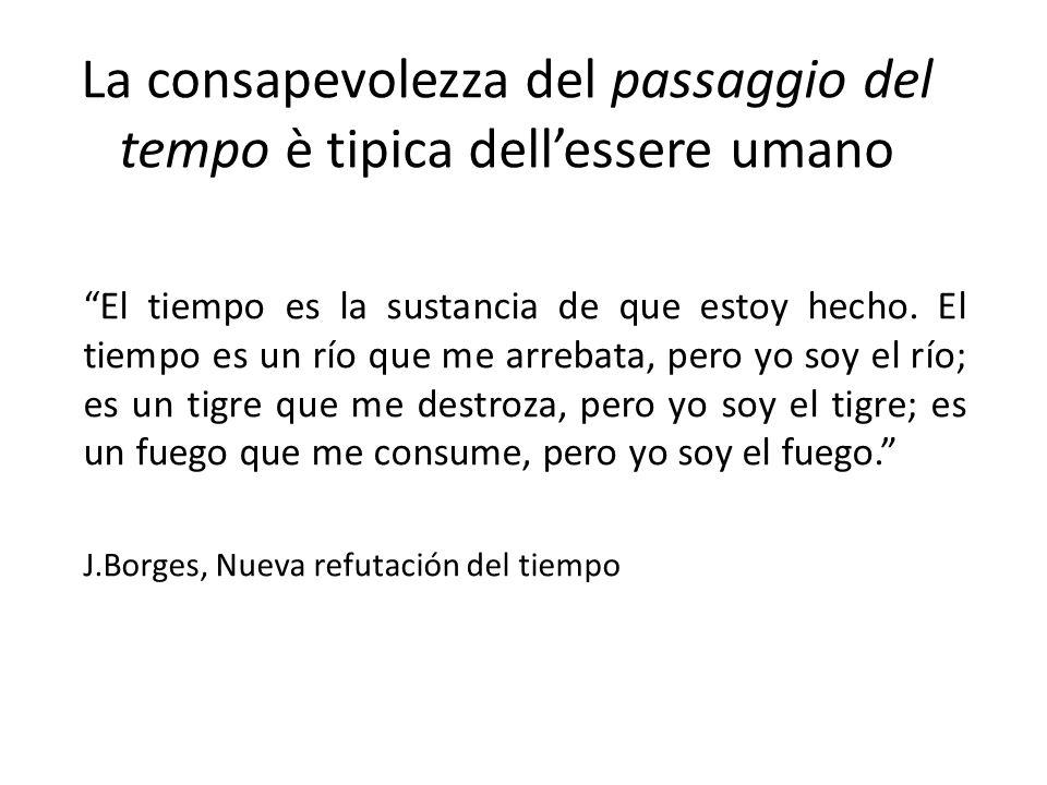 """La consapevolezza del passaggio del tempo è tipica dell'essere umano """"El tiempo es la sustancia de que estoy hecho. El tiempo es un río que me arrebat"""