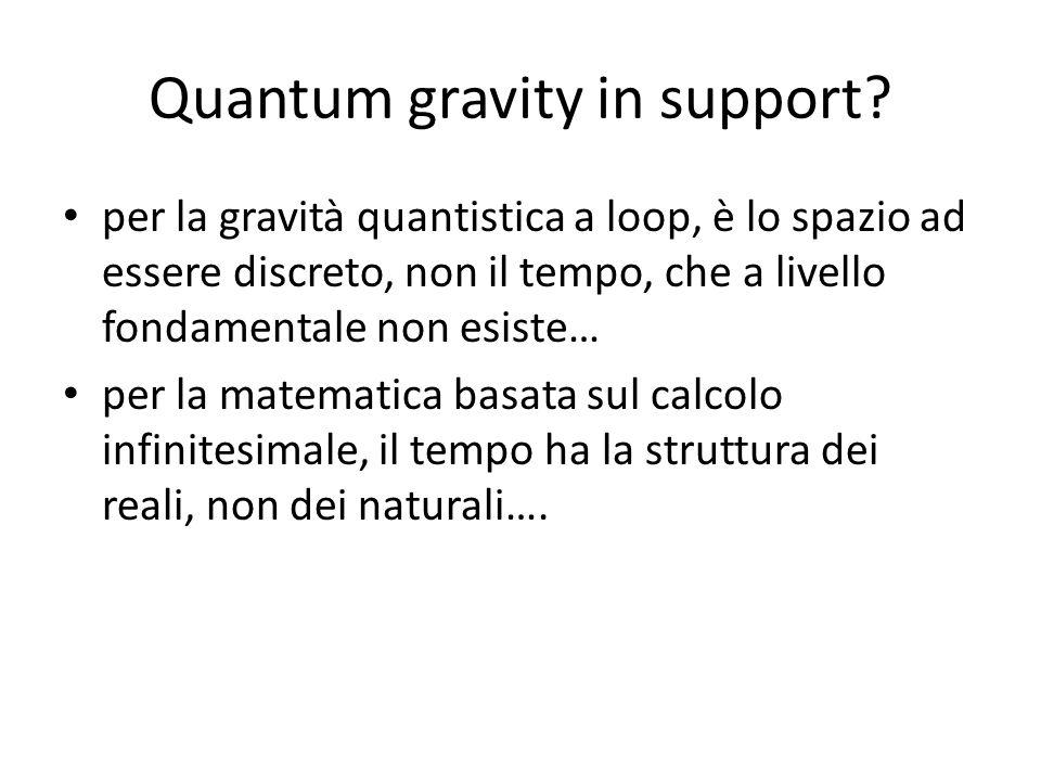 Quantum gravity in support? per la gravità quantistica a loop, è lo spazio ad essere discreto, non il tempo, che a livello fondamentale non esiste… pe