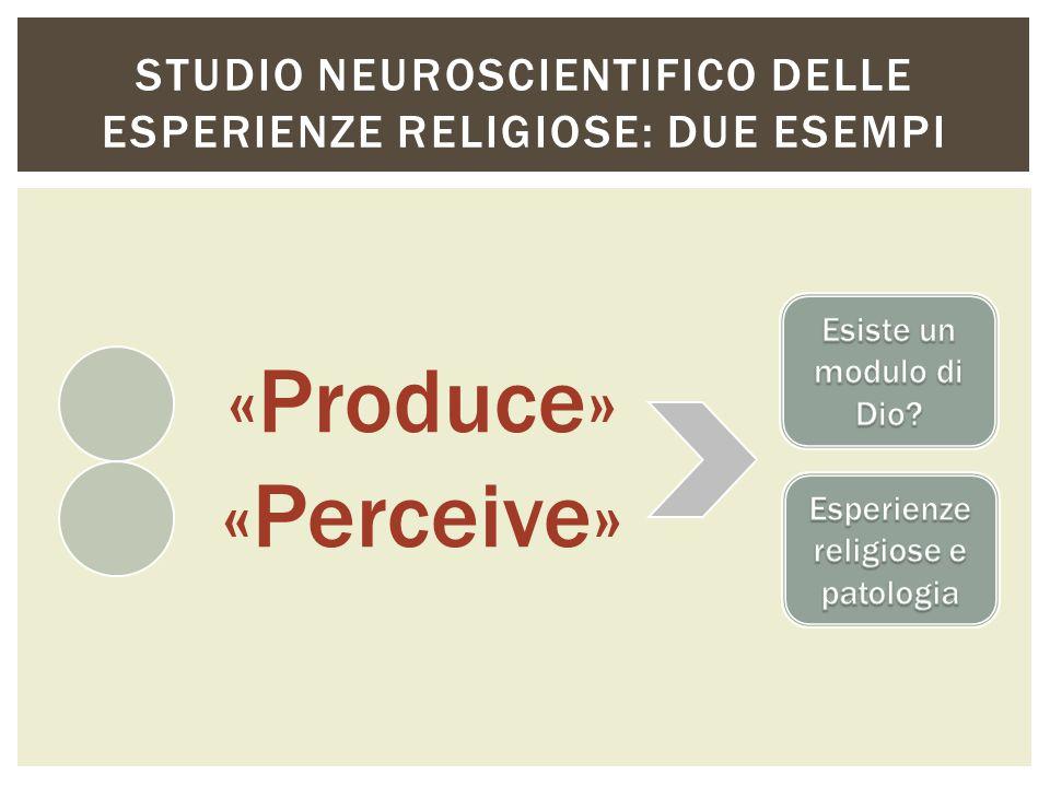 Esiste nel cervello umano un area o un circuito specializzato all elaborazione delle esperienze religiose di per sé.