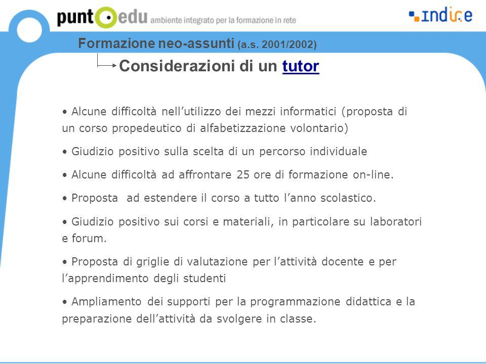 Alcune difficoltà nell'utilizzo dei mezzi informatici (proposta di un corso propedeutico di alfabetizzazione volontario) Giudizio positivo sulla scelt