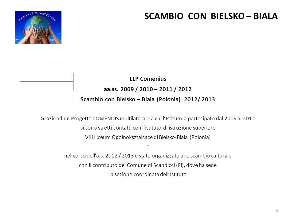 SCAMBIO CON BIELSKO – BIALA LLP Comenius aa.ss.