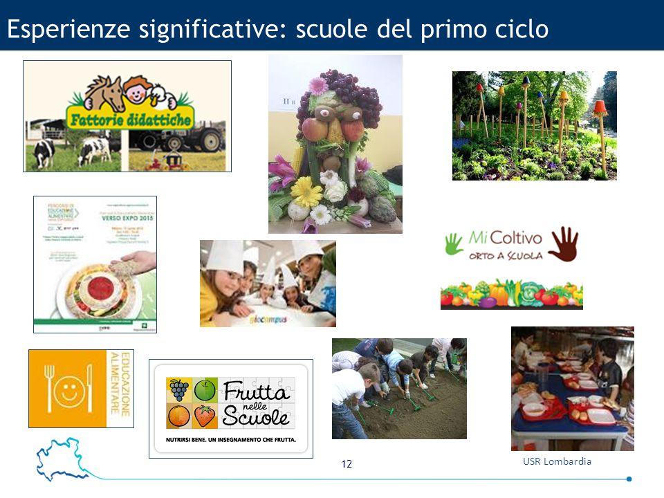 12 USR Lombardia Esperienze significative: scuole del primo ciclo