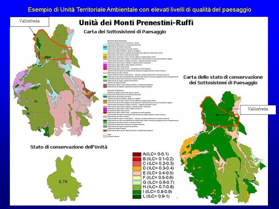 Vallinfreda Esempio di Unità Territoriale Ambientale con elevati livelli di qualità del paesaggio