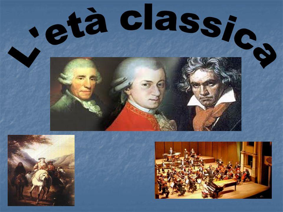 Il classicismo va dalla seconda metà del '700 fino al primo decennio dell'800.