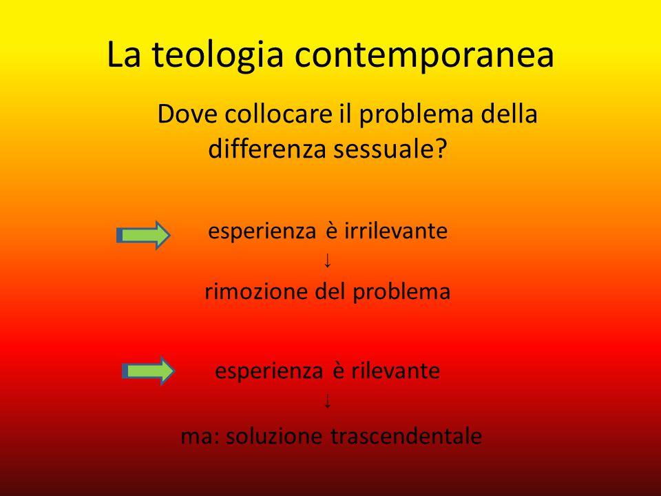 Dove collocare il problema della differenza sessuale? esperienza è irrilevante ↓ rimozione del problema esperienza è rilevante ↓ ma: soluzione trascen