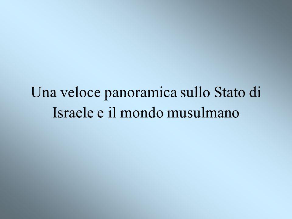 Una veloce panoramica sullo Stato di Israele e il mondo musulmano