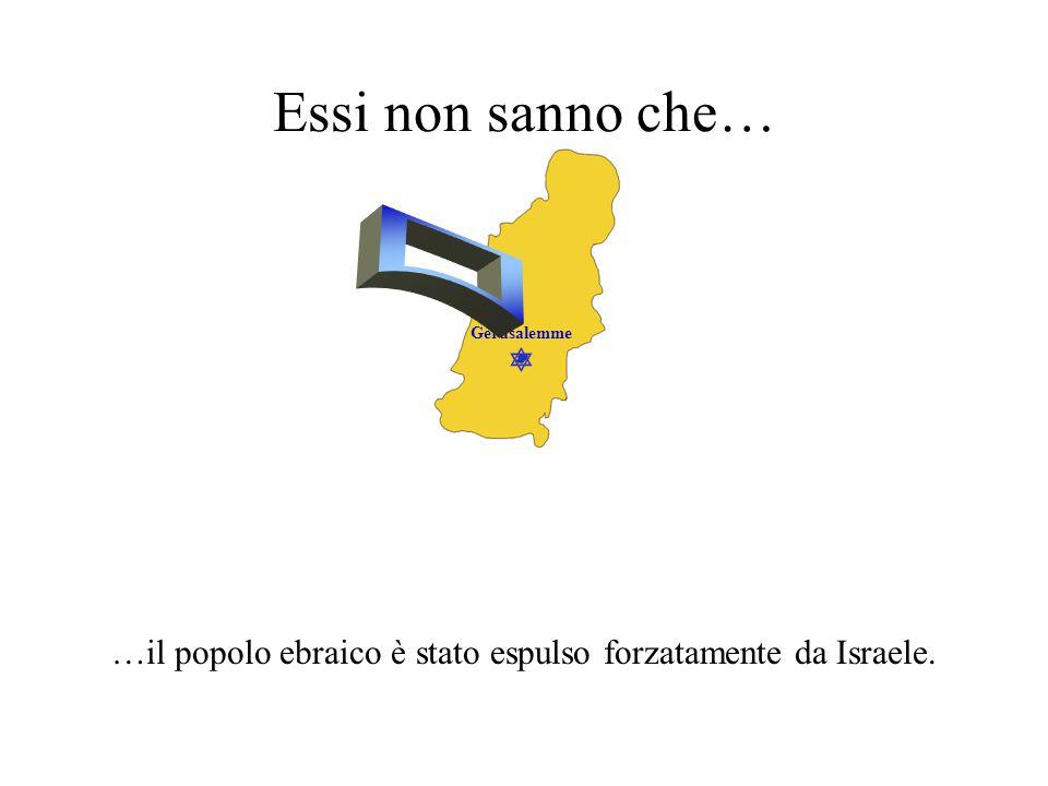  Gerusalemme Essi non sanno che… …la nazione ebraica ha prosperato per un migliaio di anni.