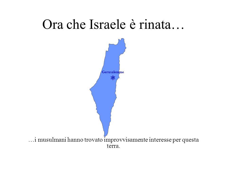  Gerusalemme Essi non sanno che… …Israele è l'unica Nazione che è esistita qui.
