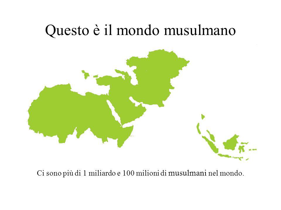 Questo è il mondo musulmano Ci sono più di 1 miliardo e 100 milioni di musulmani nel mondo.