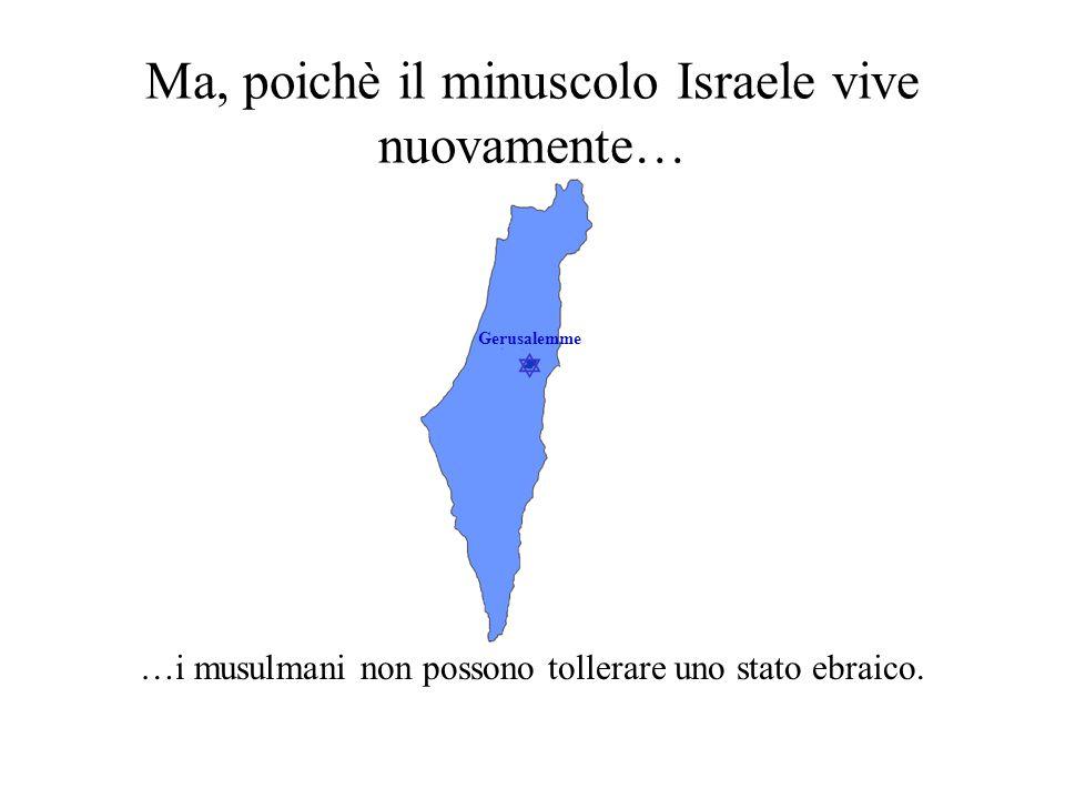  Gerusalemme Questo, nonostante il fatto che… …i musulmani ad est di Israele rivolgono le loro terga a Gerusalemme.